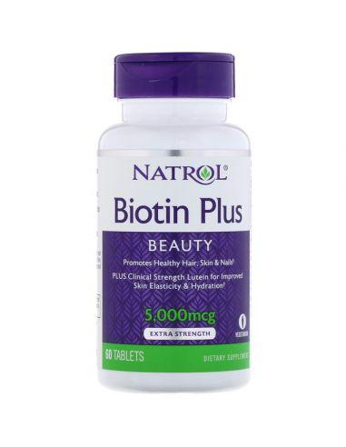 Natro, Biotine Plus Extra Fort 5000 mcg, 60 comprimés