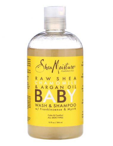 SHEA MOISTURE Savon et shampoing pour bébé, avec de l'oliban et de la myrrhe, 384 ml